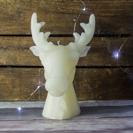 Large Stag Head Candle