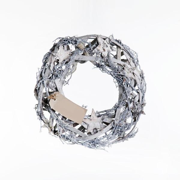 silver star christmas wreath