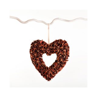 star anise heart ring