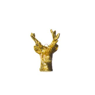 stag head hanger gold