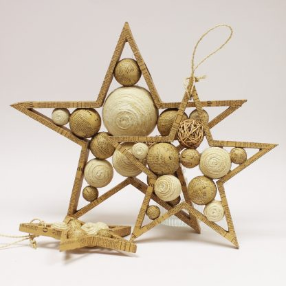 large, medium and small star