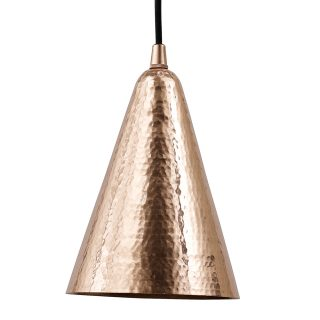 copper ceiling light cone