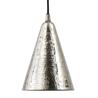 silver ceiling light cone