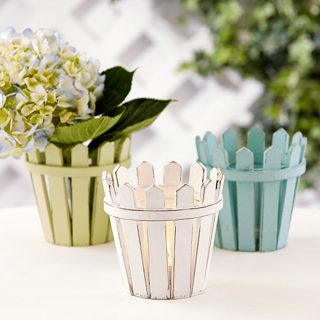 picket fence tealight holder