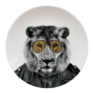 larry lion plate