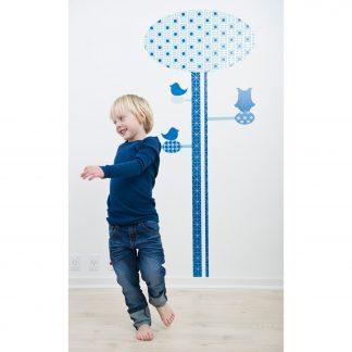 Blue Geometric Height Chart Sticker