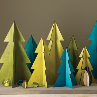 3d wooden christmas tree