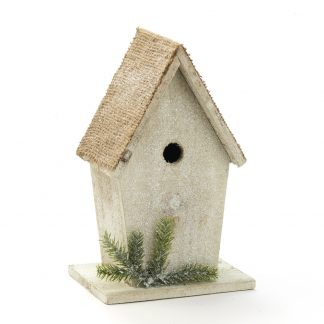 frosty birdhouse