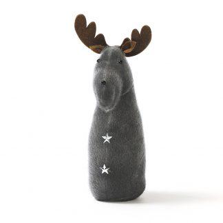grey velvet reindeer
