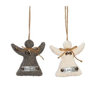 knitted angel hanging decoration