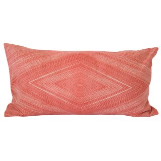 orange matrix diamond cushion