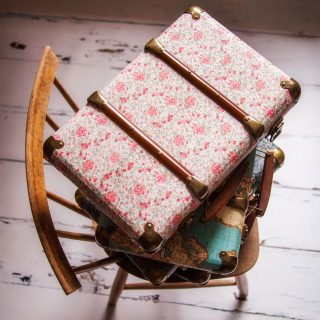 Vintage Roses Suitcase