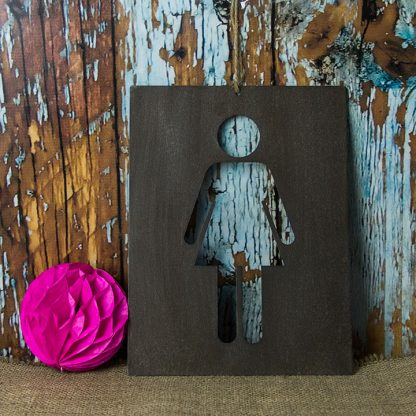 His and Hers Metal Wall Signs