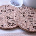 personalised tea or coffee coaster