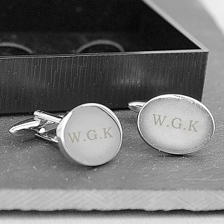 personalised initial cuff links