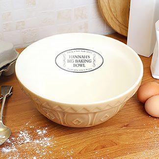 Personalised Mixing Bowl, Love Made Edible