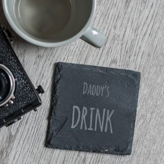 Dad, Daddy Or Grandad Slate Coaster