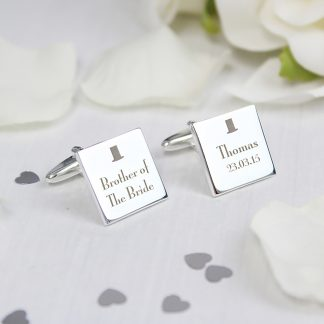 Personalised Top Hat Cufflinks