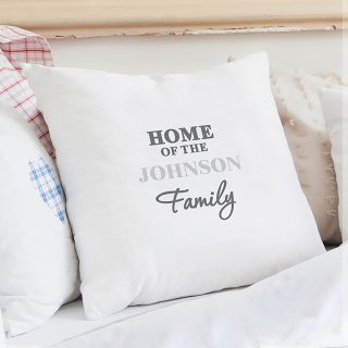 Personalised Surname Cushion Cover