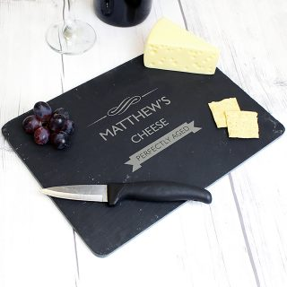 personalised slate cheeseboard perfectly aged