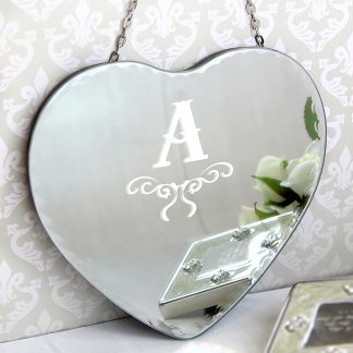 heart personalised mirror