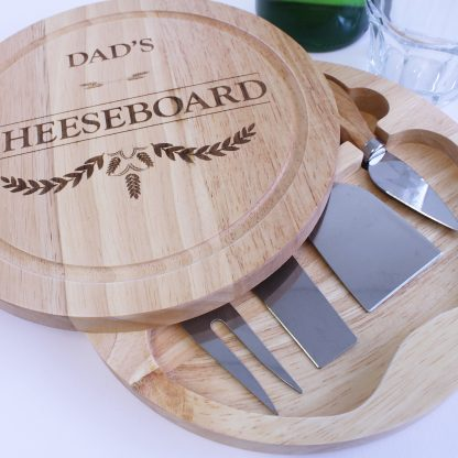dad's cheeseboard with knives set