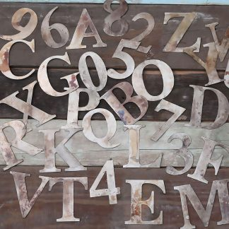 Small Metal Letters and Numbers