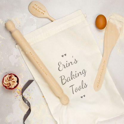 Personalised Adult Wooden Baking Utensils