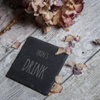 Personalised Slate Drinks Coaster