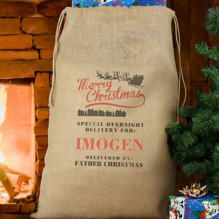 Personalised Merry Christmas Sack