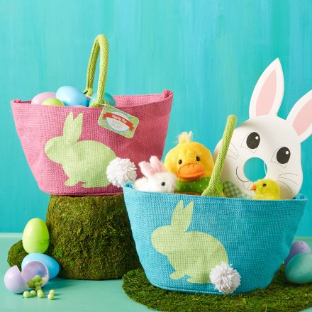 Easter Bunny Bag with Pom Pom Tail