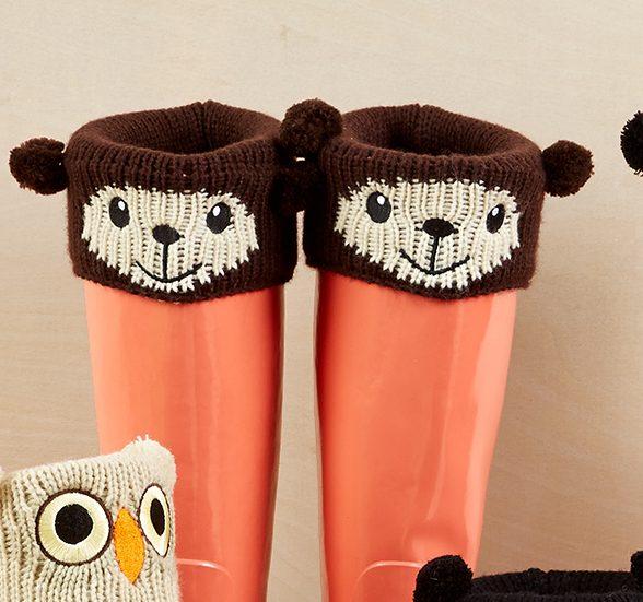 animal boot cuffs, bear