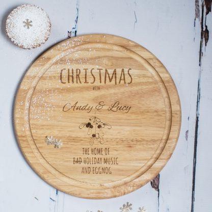 Personalised Mistletoe Chopping Board