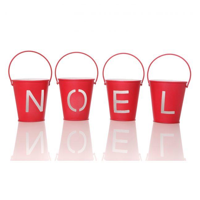 Noel Bucket Tealight Holders