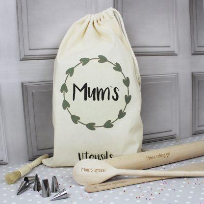 Mum's Personalised Baking Utensils with Bag