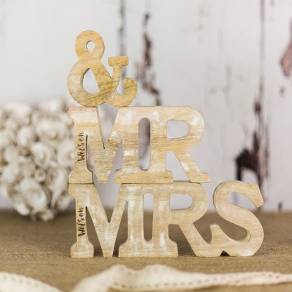 Personalised Mr & Mrs Wooden Letters