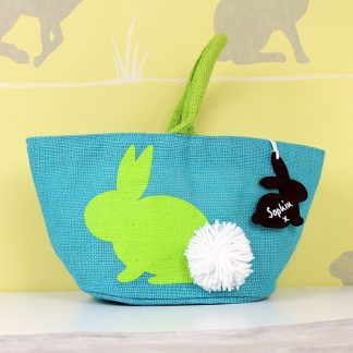 Easter Bag With Chalkboard Name Tag, Pink Or Blue