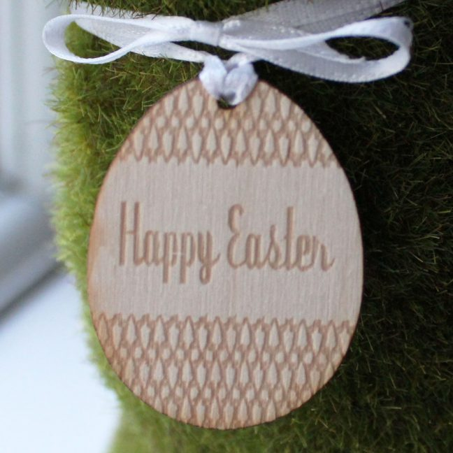 Easter Bunny With Happy Easter Tag