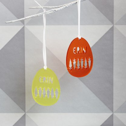 Personalised Easter Carrot Hanging Decoration