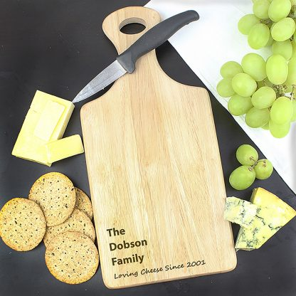 Personalised Cheeseboard, Paddle Style