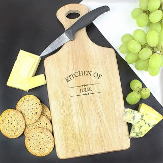 Personalised Paddle Style Cheeseboard