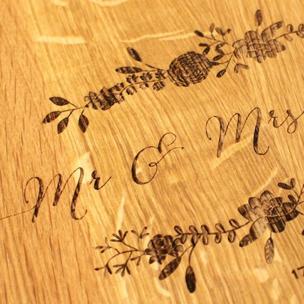 Personalised Heart Shaped Mr And Mrs Wooden Board