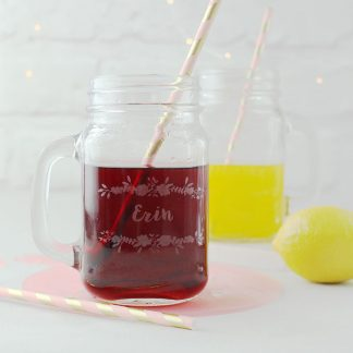 Personalised Mason Jar