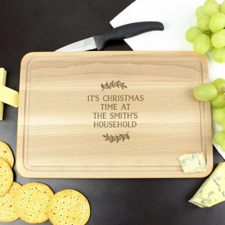 Personalised Christmas Wreath Chopping Board