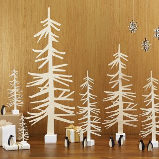 Scandi Christmas Tree In Wood
