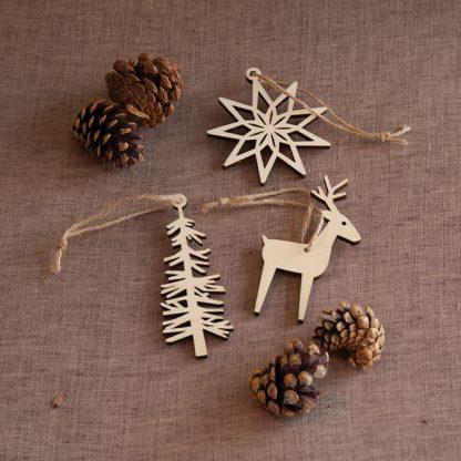 Scandi Tree Christmas Decoration