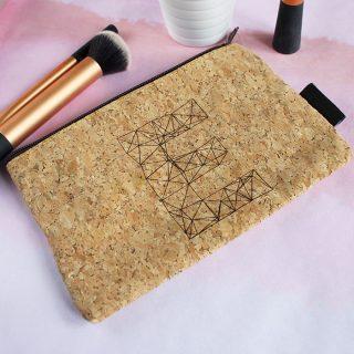 Personalised Cork Make Up Bag