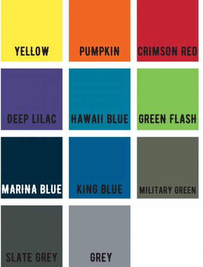 Tshirt colour swatches