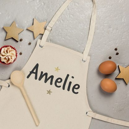 Personalised Kids Apron, Stars