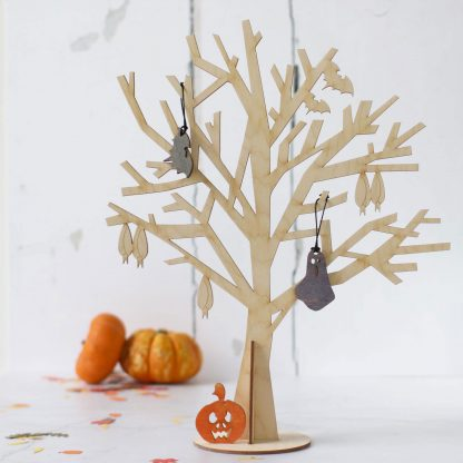 Halloween Tree Natural (shown with optional decorations)